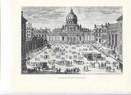GRANDES FIGURES DE FRANCE - La Sorbonne Au XVIIe Siècle,  Gravure D'Aveline - Histoire