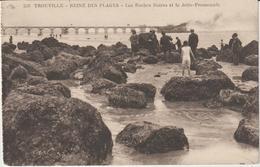 VR : CALVADOS : Deauville-Trouville : Les Roches Noires Et La Jetée-Promenade (carte Carnet) - Deauville