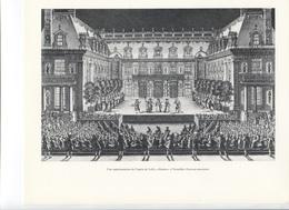 """GRANDES FIGURES DE FRANCE - Une Représentation De L'opéra De Lulli """" Alceste """" à Versailles ,  Gravure Anonime - Histoire"""
