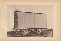 Planche Train Chemins De Fer Wagon Fermé Pour Compagnie Du Brésil Par Baume Et Marpent Haine Saint Pierre - Spoorweg