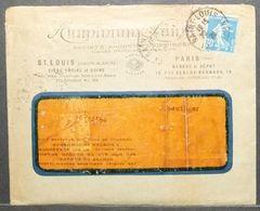 France - Advertising Cover 1926 Aluminium With Insert Saint Louis Alsace - Storia Postale