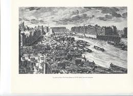 GRANDES FIGURES DE FRANCE - Le Port Au Blé Et L'ile Notre Dame Au XVIIe Siècle ,   Gravure Anonyme - Histoire
