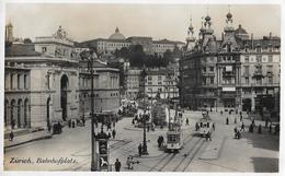 ZÜRICH → Bahnhofplatz Mit Tram Und Vielen Passanten, Ca.1925 - ZH Zurich