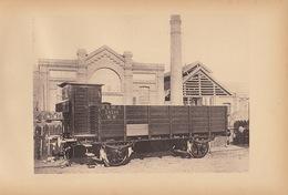 Planche Train Chemins De Fer Wagon Haussettes Pour Chemin Varsovie Vienne Par Baume Et Marpent Haine Saint Pierre - Spoorweg