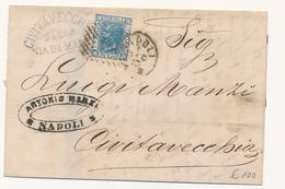 1873 DA NAPOLI A CIVITAVECCHIA VIA DI MARE CIVITAVECCHIA DALLA VIA DI MARE - 1861-78 Vittorio Emanuele II
