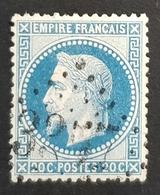1863-1870, Emperor Napoléon Lll, 20c, Bleu, Empire Français, France - 1863-1870 Napoléon III. Laure