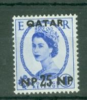 Qatar: 1957/59   QE II    SG8   25n.p. On 4d    MH - Qatar