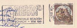 NN133   Italia Italy  Merano 1981 - Campionato Mondiale Di Scacchi / World Chess Championship - Scacchi