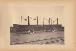 Planche Train Chemins De Fer Wagon à Rancher Pour Chemin Du Wurtemberg Allemagne Par Baume Et Marpent Haine Saint Pierre - Spoorweg