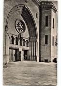 Luxembourg La Cathedrale Entrée Laterale CPSM PF + Timbre Cachet 1948 - Lussemburgo - Città