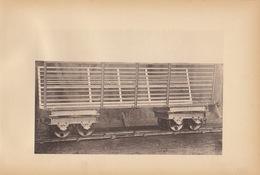 Planche Train Chemins De Fer Wagon Pour Canne à Sucre Betterave Herbe Par Baume Et Marpent Haine Saint Pierre - Ferrocarril