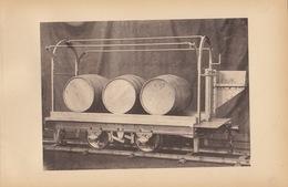 Planche Train Chemins De Fer Wagon Pour Tonneau Par Baume Et Marpent Haine Saint Pierre - Chemin De Fer