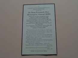 DP - De H.E.H Monseigneur Gustaaf BOES > ALKEN 30 Jan 1889 > LUIK Vooravond O.L.V. Lichtmis 1949 ! - Décès