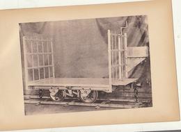 Planche Train Chemins De Fer Wagon Poursac Par Baume Et Marpent Haine Saint Pierre - Chemin De Fer