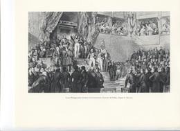 GRANDES FIGURES DE FRANCE - Louis Philippe Prete Serment à La Constitution -  Gravure De Frilly D'après E Deveria - Histoire