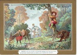 Chromo AU BON MARCHE - DON QUICHOTTE N°6 - La Lithographie Parisienne, ROMANET PARIS - Au Bon Marché