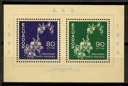 Ecuador 1960 / Flowers Orchids MNH Orquideas Flores Blumen / Kn19  34-20 - Orquideas