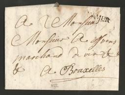 """Belgique - Précurseur - LAC De Namur (""""NAMUR"""" En Noir H22) à Bruxelles Du 27/10/1771 - Port """"2"""" - 1714-1794 (Oostenrijkse Nederlanden)"""