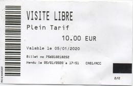 Ticket D'Entrée : MEP Maison Européenne De La Photographie à Paris 10,00 EUR : Le 05/01/2020 - Tickets D'entrée