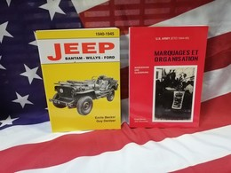 Best 2 Livres  BECKER Jeep Bantam Willys Ford M 201 + Marquages Et Organisation - Véhicules