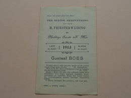 H. PRIESTERWIJDING ( 1ste H. Mis ) Gustaaf BOES > Luik 24 Maart 1913 Alken 26 Maart.! - Religion & Esotérisme