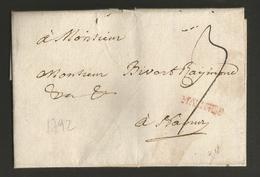 """Belgique - Précurseur - LAC De Malines (""""MALINES"""" En Rouge) à Namur - Port """"3"""" - 1714-1794 (Pays-Bas Autrichiens)"""