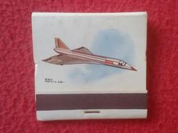 SPAIN ANTIGUA CAJA DE CERILLAS OLD MATCHBOX ALLUMETTES BOX AVIÓN AIR PLANE AIRPLANE AVIATION 30 BAC CONCORDE SUPERSÓNICO - Cajas De Cerillas (fósforos)