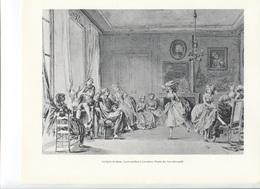 GRANDES FIGURES DE FRANCE - La Leçon De Danse.  Lavis Attribué à Lavreince - Geschichte