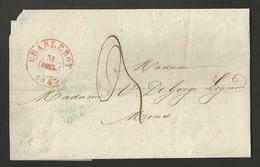 Belgique - Précurseur LAC De Charleroi Vers Mons Du 31/07/1843 - Cachet Arrivée Au Verso + La Providence - 1830-1849 (Belgique Indépendante)