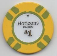 Jeton De Horizons Casino GB £1 - Casino