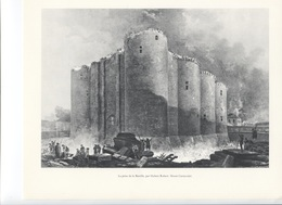 GRANDES FIGURES DE FRANCE - La Prise De La Bastille, Par Hubert Robert - Histoire