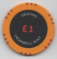 Jeton De Genting Casino : Cromwell Mint £1 - Casino