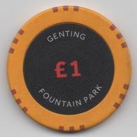 Jeton De Genting Casino : Foountain Park £1 - Casino