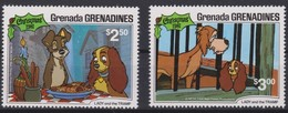 Grenada Grenadines 1981 Walt Disney Yvertnr 413-414 *** MNH Cote 43 FF Faune Chiens Dogs Honden Noël - Disney