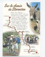 43--SUR LE CHEMIN DE STEVENSON -ÂNE 2009  --RECTO /VERSO B87 - France