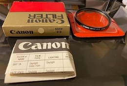 NEW! Canon 58mm 81B Portrait Filter; Can Use On Nikon, Canon, Sony, Leitz, Zeiss Etc. 全新81B 暖濾光鏡 - Lentes