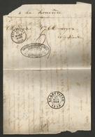 Belgique - LAC Non Affranchie De Bruxelles (cachet DC Bruxelles En Noir) Vers La Louvière Du 17/03/1858 - 1830-1849 (Onafhankelijk België)