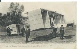 AÉROPLANE.....L ' AÉROPLANE VOISIN PILOTE PAR METROT , MIGNOT ,NOGUES, GABILAN - Aviation