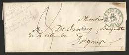 Belgique - LAC Non Affranchie De Bruxelles à Soignies Du 14/12/1850 - 1830-1849 (Onafhankelijk België)