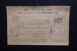 CÔTE DES SOMALIS - Enveloppe En Recommandé De La Journée Philatélique Au Profit Du Secours National En 1942 - L 50899 - Côte Française Des Somalis (1894-1967)