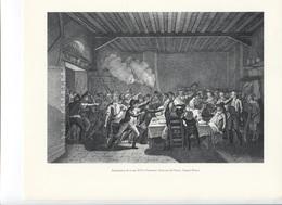 GRANDES FIGURES DE FRANCE - Arrestation De Louis XVI à Varennes.  Gravure De Cheur D'après Prieur - Histoire