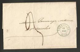 Belgique - LAC De Bruxelles à St Nicolas Du 13/03/1849 - 1830-1849 (Belgique Indépendante)