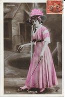 Portrait De Lilian Greuze Jouant Au Diabolo, Actrice Théâtre Et Cinéma - Gymnase - Carte Reutlinger N° 2275 - Entertainers