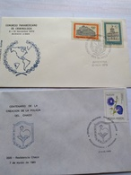 Argentina  Pmks Matasellos.police.policia 1979 Congreso Criminología 1985 Policía De Chaco - Police - Gendarmerie
