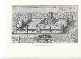 GRANDES FIGURES DE FRANCE - Le Chateau De Vincennes En 1650 - Gravure Allemand - Geschichte