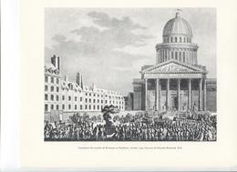 GRANDES FIGURES DE FRANCE - Translation Des Cendres De Rousseau Au Panthéon, Octobre 1794 - Gravure De Girardet Berthaul - Histoire