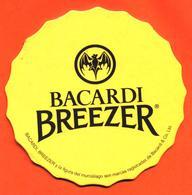 Sous Bock - Coaster Bacardi Breezer Jaune - Chauve Souris - Bierdeckel