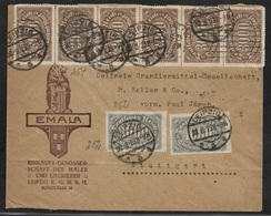 1923 Dt.Reich MiF Mi.252(2), 254 - Signiert DÜNTSCH - INFLA BERLIN - ILLUSTRIERTER UMSCHLAG - Germania