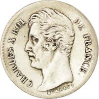 Monnaie, France, Charles X, 1/4 Franc, 1828, Nantes, TTB, Argent, Gadoury:353 - France