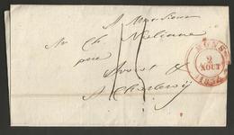 Belgique - Précurseur - LSC De Mons à Charleroi Du 02/08/1834 - 1830-1849 (Onafhankelijk België)
